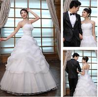 best strapless - 2013 Best Sale Cheap Custom Strapless Sequins Ball Gown Wedding Princess Dresses Bridal Gowns