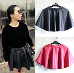 Wholesale FASHION Girl s Leather Look A line matt Skater Pleated Mini SKIRT Short W3107