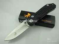 best steel for folding knives - Hot sale Excellent China knife Steel F56 pocket knife Cr17MOV HRC steel G10 handle steel knives survival knife Best gift for men free shi