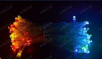 leds05 2m 20 LED / 3m 30 LED / 4M 40 LED / 5m 50 СИД / 10m 80 СИД 3xAA батареи механизированной свет шнура гирляндой