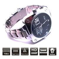 16G   New Arrival 16GB Full HD 1080P Waterproof Sound Ativiated Hidden Watch Camera Video Recorder DVR Camcorder DV W10
