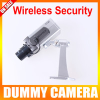 Wholesale Wireless Dummy Fake camera Motion Detection LED Surveillance Camera Security vandalproof kit for sale