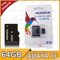TF / Micro SD Card 64GB 20pcs 64GB Micro SD TF Memory Card Class 10 ADATA Cards With Adapter 5D 60D 70D 700D EOS 6D