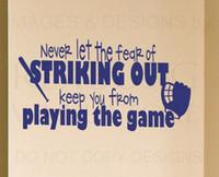 Vinyl baseball wall art - 10pcs Wall Decal Sticker Quote Vinyl Art Removable Baseball Boy s Sports Room