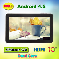 Wholesale Luxury Tablet IRULU Android Dual Core Allwinner A20 Inch Tablet PC GHz G G Dual Cameras HDMI