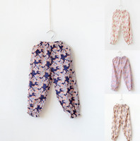 Wholesale Baby Girls Cotton print floral loose pants kids girl fashion stylish flower casual thin pant in colors children s trousers
