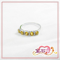 Other Material other / other Other styles Lucky ** 925 sterling silver natural citrine crystal rings women ring ring ring