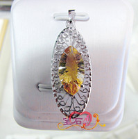 Natural crystal / semi-precious stones Citrine other / other * Natural Citrine Jewelry Pendant Necklace in Sterling Silver millennium palace beauty gifts