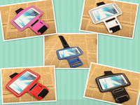 Wholesale Fashion Sport Gym Running Armband Protector Belt Soft Case Cover for Samsung Galaxy Note N7100 Note N7000