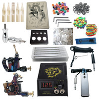 2 Guns Beginner Kit  Tattoo Kit 2 Pro Machine Guns Power Supply Needles Grips Tips Beginner Kits PK2-2