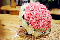 Wholesale 2014 Elegant New Top Fashion Hand Made Flower Wedding Favors Artificial Wedding Bouquets Wedding Bridal Flower Purple Wedding Decorations