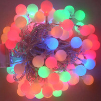 Wholesale 110V LEDs M Multi Color Christmas Decoration strips ball led String Lights and high quality