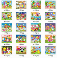Wholesale Kids DIY EVA Mosaic Puzzle Dstickers Art Kindergarten craft materials DIY hand made Roll the Cube animals Jigsaw puzzle styles sets