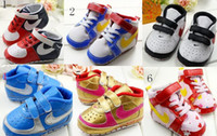 Wholesale 10 off New baby shoes soft bottom non slip toddler shoes BB checkmark quality infant shoes soft shoes sneakers hotsale models pairs C