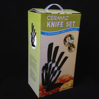 Wholesale Ceramic Knife set quot quot quot quot peeler Ceramic Chef s Horizontal Knife with Scabbard Fruit Knife Sets Sharp knife Fast shipment by DHL