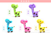Christmas Grassland Animals Multicolor Wholesale - Free shipping new Real cute soft variety of colors giraffe doll plush toys