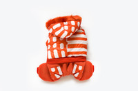 Wholesale Newest Popular Fashion Star Orange and White Stripe Windbreaker Winter Soft Warm Pet Apparel High Quality Unisex Cheap