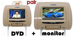 Wholesale - car dvd for headrest DVD+monitor ,7 inch HD screen with DVD USB SD FM IR GAME