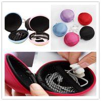 Wholesale Carrying Hard Case Earphone Headphone Storage Bag Holder Pocket Earbuds SD TF Card