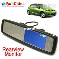 Wholesale Car Rear View Mirror Video Monitor Support Touch Screen x Inch TFT LCD Screen Free Shi
