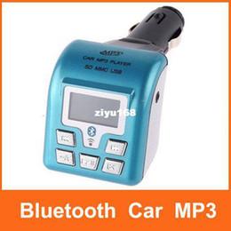 Wholesale - Bluetooth Car MP3 Player Wireless Car FM Transmitter + Remote Control USB SD MMC Slot Free Shipping