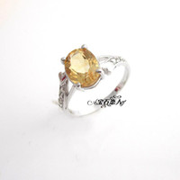 Natural crystal / semi-precious stones Citrine other / other s925 sterling silver natural citrine ring female models Korean version of the influx of people ring finger ring Lucky