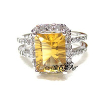 Natural crystal / semi-precious stones Citrine On the 10th the following on the 10th th s925 sterling silver natural citrine ring finger ring Korean female models fashion