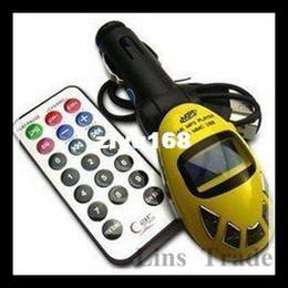 Wholesale - Free shipping New Car MP3 Player radio Foldable FM Transmitter folding type for USB SD MMC Slot