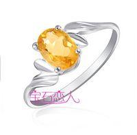Natural crystal / semi-precious stones Citrine Spot s925 silver silver natural citrine crystal ring female models Korean jewelry Valentine's Day gift