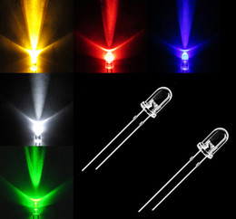 Wholesale 5mm LED x colors WHITE BLUE GREEN YELLOW RED Light Emitting Diode Ohm Metal Film W Resistors Resistor