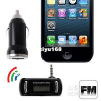 Wholesale Car Hands Free FM Transmitter Bluetooth Kit MP3 Players with Charger for iPhone iPhone amp S Sams