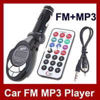 Wholesale Universal Car MP3 Player FM Transmitter Modulator With Wireless Remote Control USB SD MMC F