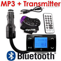 Wholesale Bluetooth Car Kit MP3 Player FM Transmitter Modulator Remote Control USB SD MMC Support Free Shipp