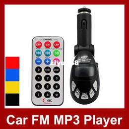Wholesale - Universal Car MP3 Player FM Transmitter With Remote Control SD  MMC USB Slot 5Pcs Lot Free Shipping