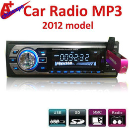 Wholesale - New model car radio USB mp3 player with SD USB AUX slot remote control