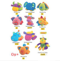 Cloth   Brand New Hot 9 Cute beep cloth dolls animals toys bed hang bell toy baby Early childhood toys