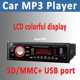 Wholesale - Hot Sale!!! Car player LCD Displayer Car MP3 Player Cheap Car MP3 with USB port + SD card slot Clock
