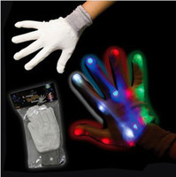 Wholesale The popular sale full finger LED gloves colorful Halloween party gloves novelty stage performance gloves light modes optional