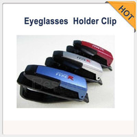 Cheap Wholesale - Supernova Sales Car Vehicle Sun Visor Sunglasses Eyeglasses Holder Clip Glasses Rack Black White Gol