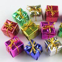 Wholesale 9600PCS Christmas Decoration Christmas Trees Pendant Small Square Box Christmas Gift Xmas Adornment Party Ornament