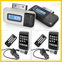 FM Transmitter   Wholesale - Car Wireleess FM Transmitter with Remote Control and Hands-Free talk conversation function for iPhon
