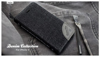 For Apple iPhone Leather Black Cell phone cases Designer Stylish Flip Jean Wallet Case Card holder for IPHONE 5 5s from asia_unit_selling