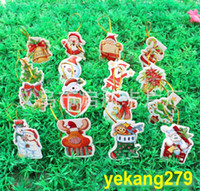 Wholesale 248PCS Wishing Greeting Cards Christmas Decoration Christmas Trees Pendant Christmas Gift Xmas Adornment Party Ornament