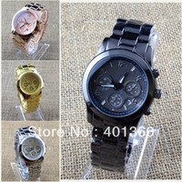 Wholesale 2013 New Arrival Fashion Brand Watch Rose Gold for Women Men with Calendar Stainless Steel Luxury Wrist Watch
