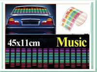 Wholesale Popular hot cm cm Colourful Flash Car Sticker Music Rhythm LED EL Sheet Light Lamp Sound Music Activated Equalizer car Stickers