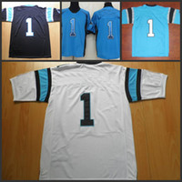 Unisex Short Polyester 2013 Game Jerseys American Football Jerseys Cam Newton #1 Elite White Mens Jerseys Breathable Mesh Super