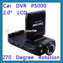 """Wholesale - 2013 Cheapest! P5000 Car DVR 2.0"""" LCD with SD Card Slot support Russia Car Black Box Drop Shipping"""
