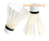 Wholesale HOT Birdies Badminton Ball Game Sport Training White Goose Feather Shuttlecocks speed