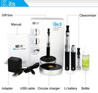 Wholesale New Products IGO Touch Charger Ecig Starter Kit Rechargeable E Cigarette IGO3 E cigarette mah Li Battery with LCD e cigarettes