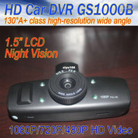 1 channel avi lens - car dvr Wide Lens Auto black box camera GS1000B spy DVR HD P fps AVI LED Night vis